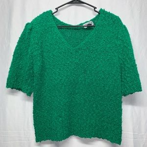 Vintage Green Sweater by Crystal Sportswear size L